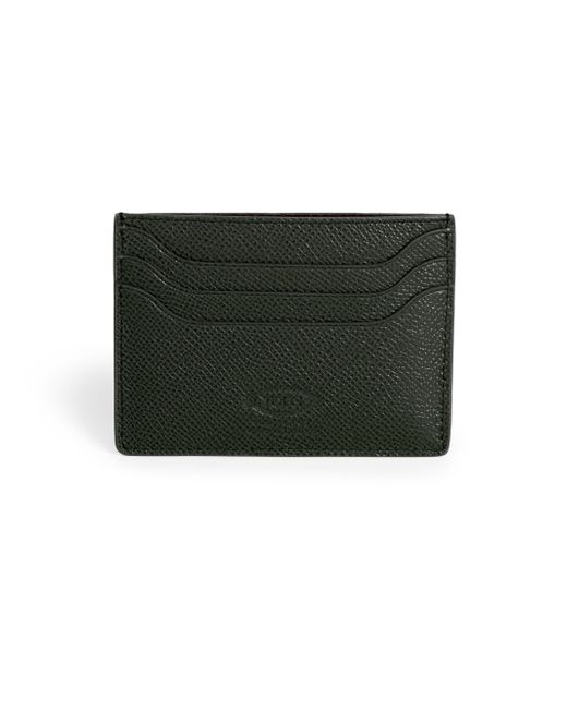 Tod's | Green Pebbled Leather Credit Card Case for Men | Lyst