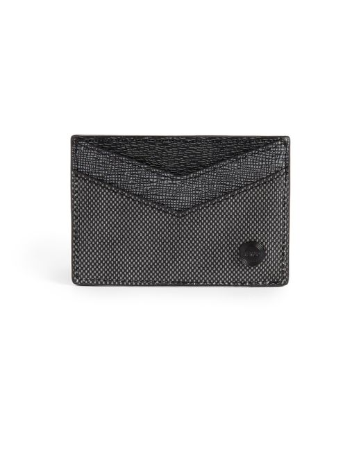 KENZO | Gray Leather Card Case for Men | Lyst
