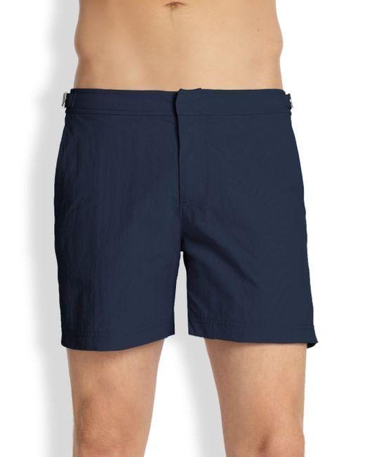 Orlebar Brown | Blue Solid Swim Shorts for Men | Lyst