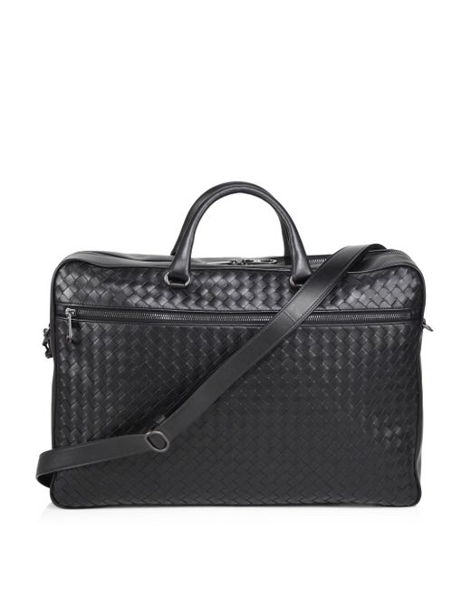 Bottega Veneta - Black Nero Leather Briefcase for Men - Lyst