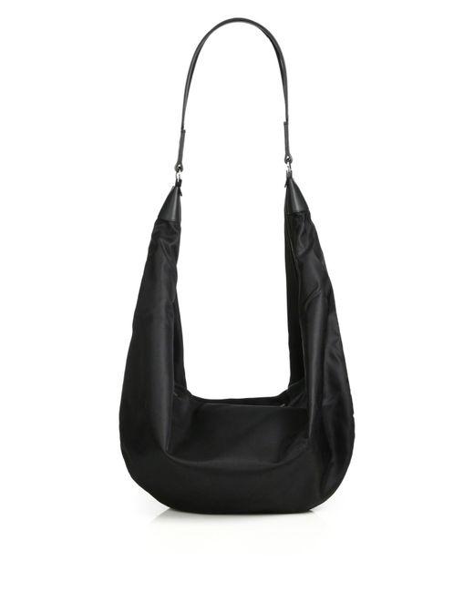 The Row   Black Nylon Sling Hobo Bag   Lyst