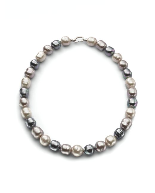 Majorica | Gray 14mm Multicolor Baroque Pearl & Sterling Silver Strand Necklace/20 | Lyst