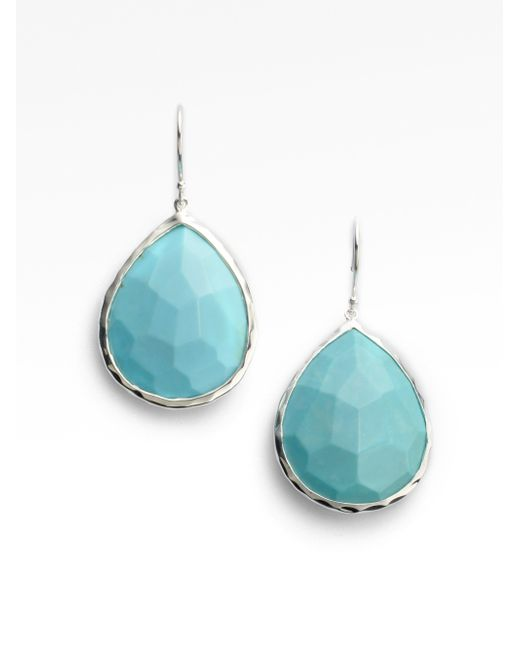 Ippolita | Metallic Rock Candy Turquoise & Sterling Silver Large Teardrop Earrings | Lyst
