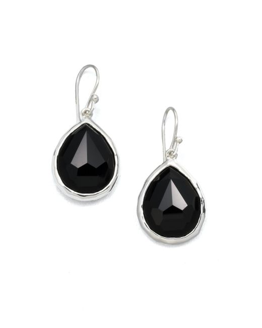 Ippolita | Rock Candy Black Onyx & Sterling Silver Mini Teardrop Earrings | Lyst