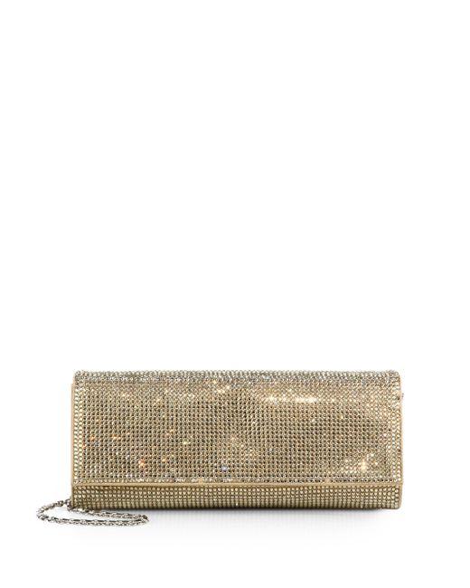 Judith Leiber Couture | Metallic Ritz Fizz Swarovski Crystal & Satin Clutch | Lyst