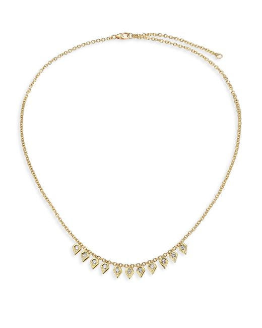 Ron Hami | Metallic Rain Diamond & 18k Yellow Gold Pear Drop Necklace | Lyst