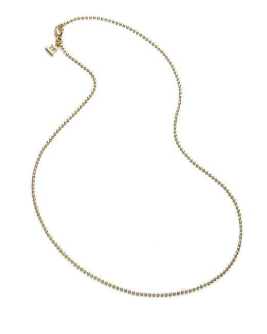 Temple St. Clair | Metallic 18k Yellow Gold Ball Necklace Chain/16 | Lyst