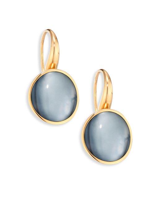Vhernier | Metallic Giotto Piccolo Rock Crystal, Mother-of-pearl, Black Jade & 18k Rose Gold Earrings | Lyst