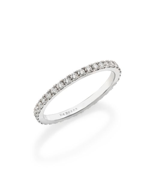 De Beers | Metallic Classic Diamond & Platinum Full Eternity Band Ring | Lyst