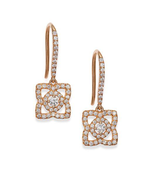 De Beers | Metallic Enchanted Lotus Diamond & 18k Rose Gold Drop Earrings | Lyst