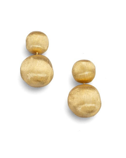 Marco Bicego | Metallic Africa 18k Yellow Gold Ball Drop Earrings | Lyst