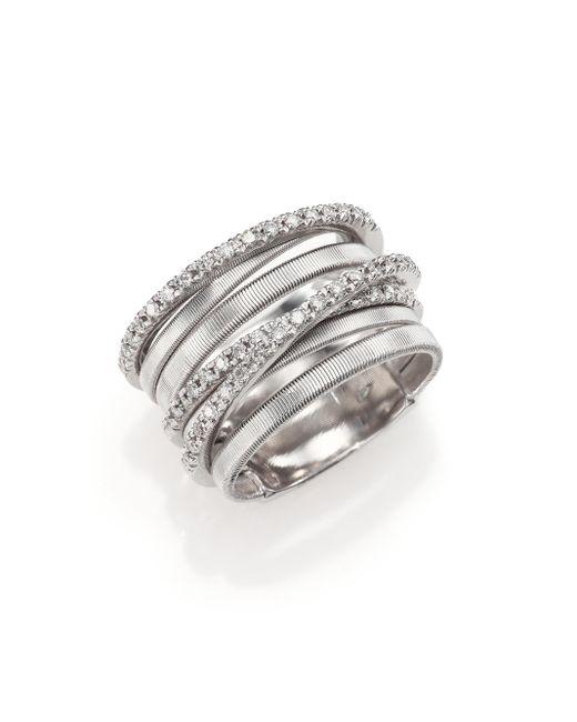 Marco Bicego | Goa Diamond & 18k White Gold Seven-strand Ring | Lyst
