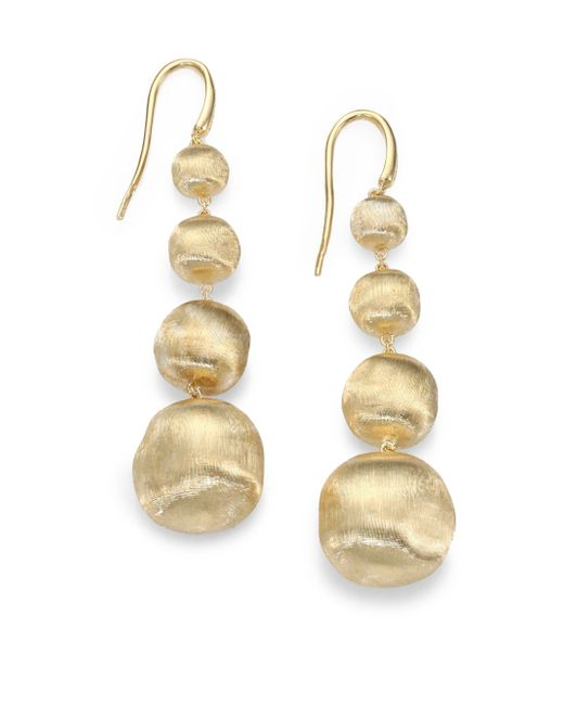 Marco Bicego | Metallic Africa 18k Yellow Gold Graduated Ball Drop Earrings | Lyst