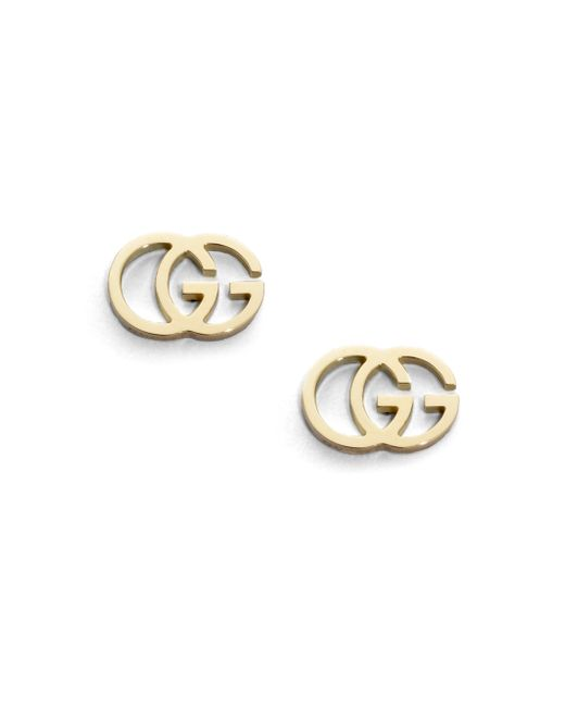 Gucci | Metallic 18k Yellow Gold Double G Earrings | Lyst