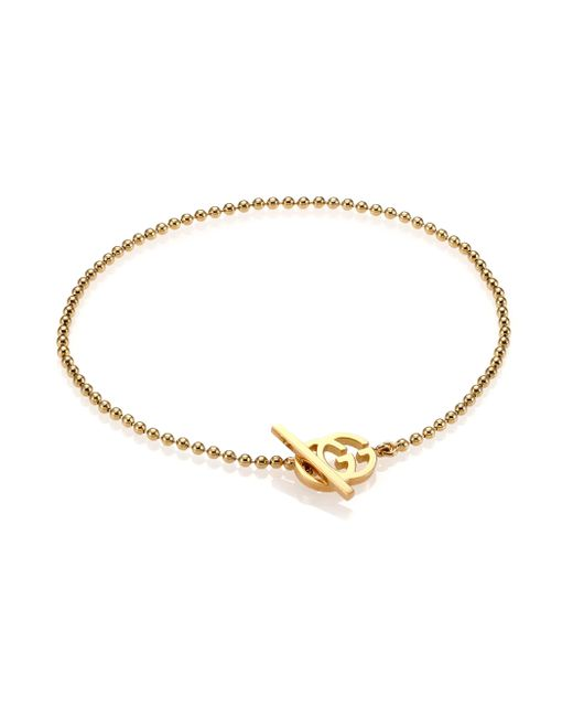 Gucci | Metallic Brand-motif 18ct Yellow-gold Bracelet | Lyst