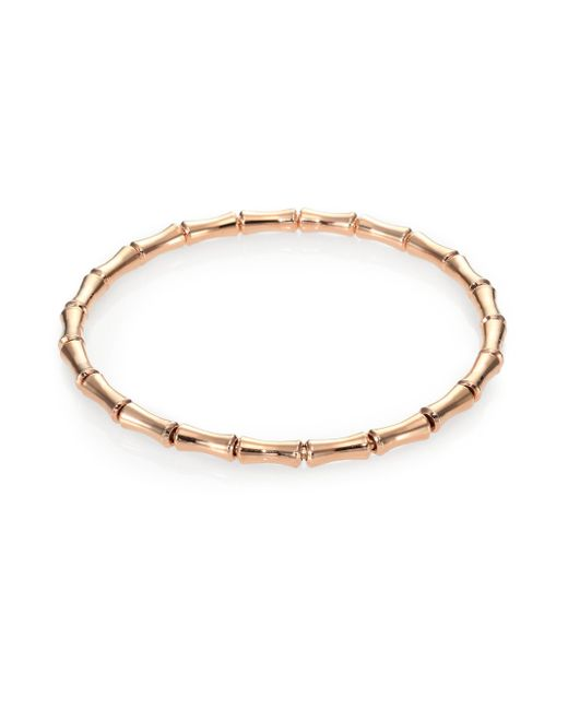 Gucci | Metallic Bamboo 18k Rose Gold Thin Bracelet | Lyst