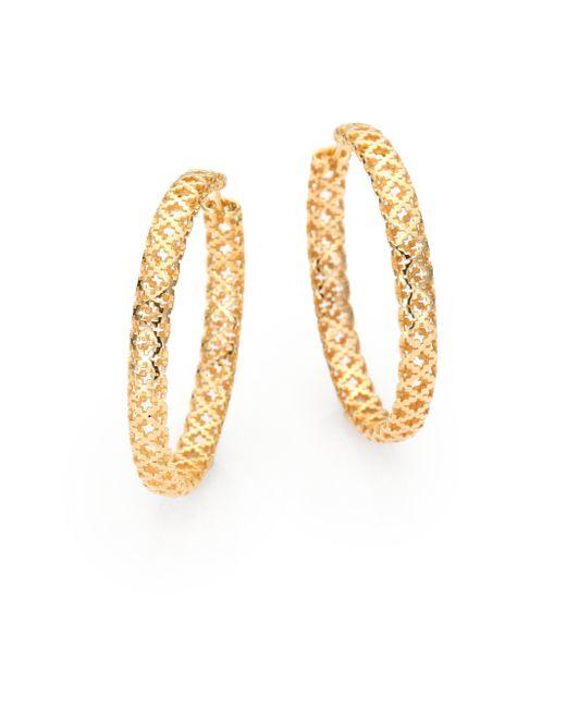Gucci | Metallic Diamantissima 18k Yellow Gold Hoop Earrings/1.5 | Lyst