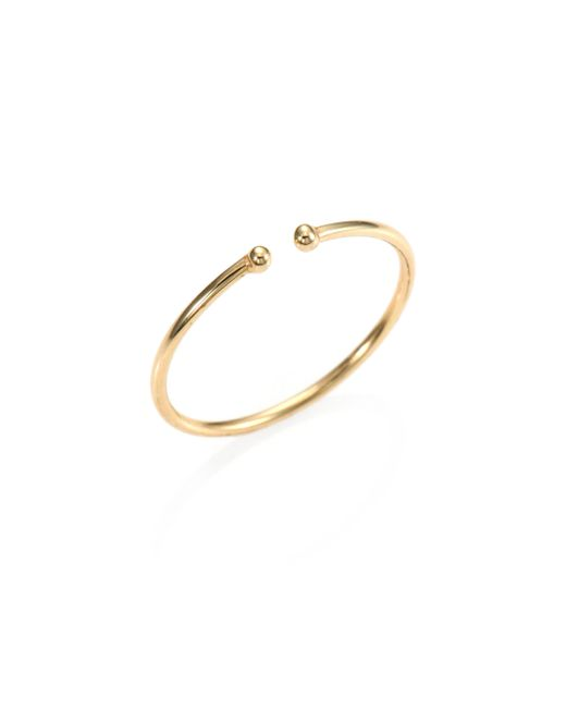 Jacquie Aiche | Yellow 14k Gold Barbell Ring | Lyst