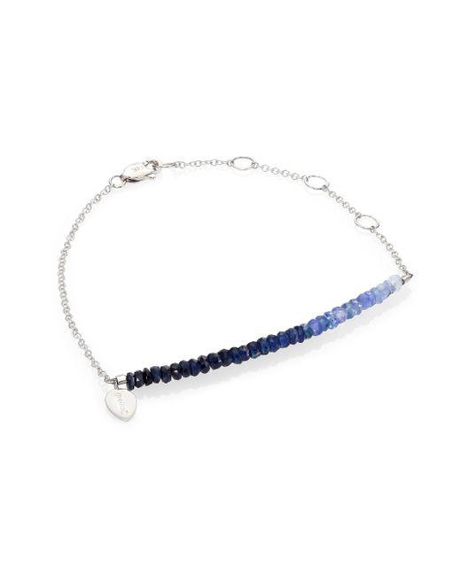 Meira T | Metallic Sapphire & 14k White Gold Ombre Beaded Bracelet | Lyst