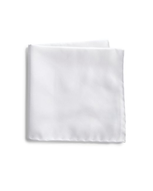 Saks Fifth Avenue | White Silk Solid Pocket Square for Men | Lyst