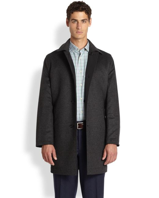 Saks Fifth Avenue | Gray Reversible Coat for Men | Lyst