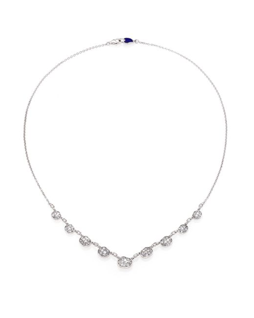 Plevé | Metallic Ice Diamond & 18k White Gold Mini Pebble Station Necklace | Lyst