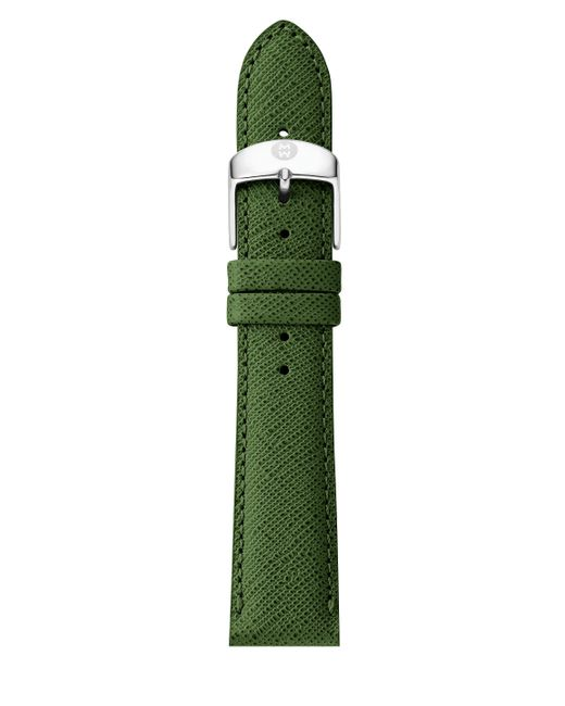 Michele Watches | Green Saffiano Leather Watch Strap/18mm | Lyst
