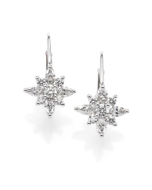 Kwiat | Metallic Diamond & Platinum Star Drop Earrings | Lyst