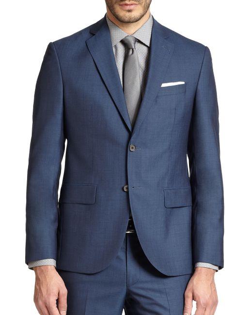 Saks Fifth Avenue   Blue Modern-fit Wool Sportcoat for Men   Lyst