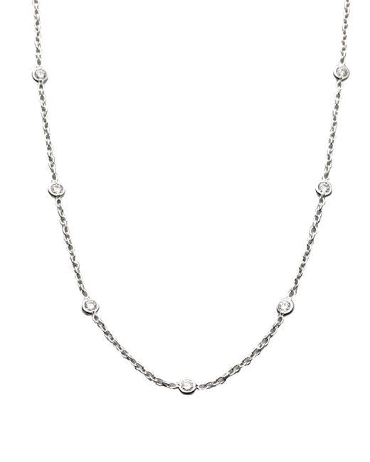Roberto Coin | Metallic Diamond & 18k White Gold Station Necklace | Lyst