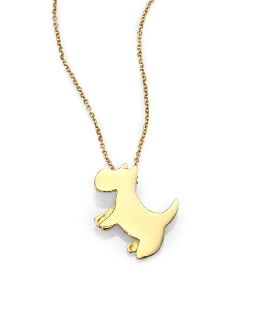 Roberto Coin | Metallic Tiny Treasures 18k Yellow Gold Scottie Pendant Necklace | Lyst