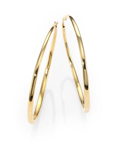Roberto Coin | Metallic 18k Yellow Gold Hoop Earrings/2.5 | Lyst