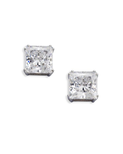 Adriana Orsini | Metallic Sterling Silver Square Stud Earrings | Lyst