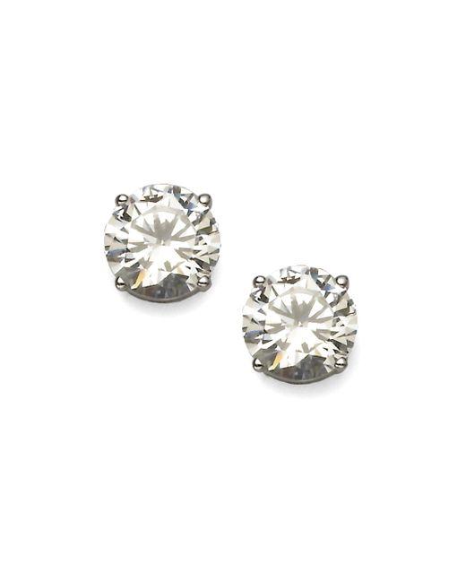 Adriana Orsini | Metallic Brilliant-cut Sterling Silver Stud Earrings | Lyst