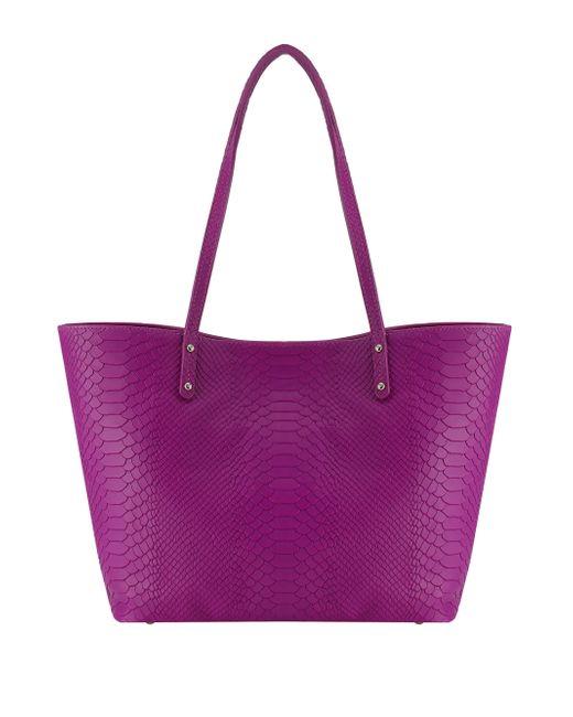 Gigi New York | Purple Taylor Mini Python-embossed Tote | Lyst