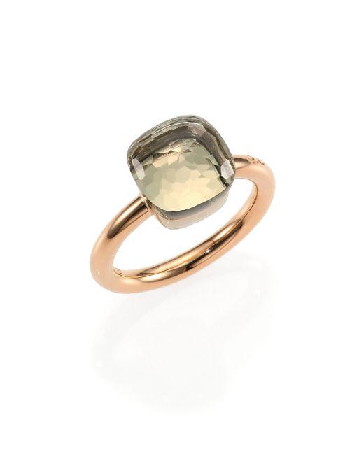 Pomellato | Pink Nudo Prasiolite & 18k Rose Gold Ring | Lyst