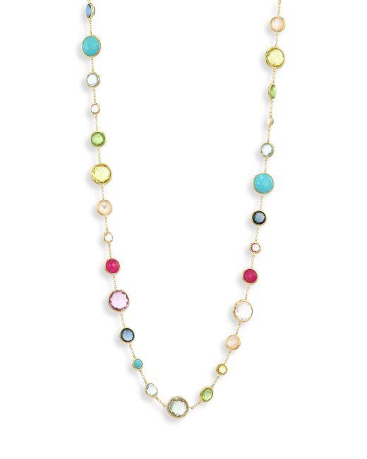 Ippolita | Multicolor Semi-precious Multi-stone & 18k Gold Necklace | Lyst