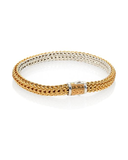 John Hardy | Metallic Classic Chain 18k Yellow Gold & Sterling Silver Small Reversible Bracelet | Lyst