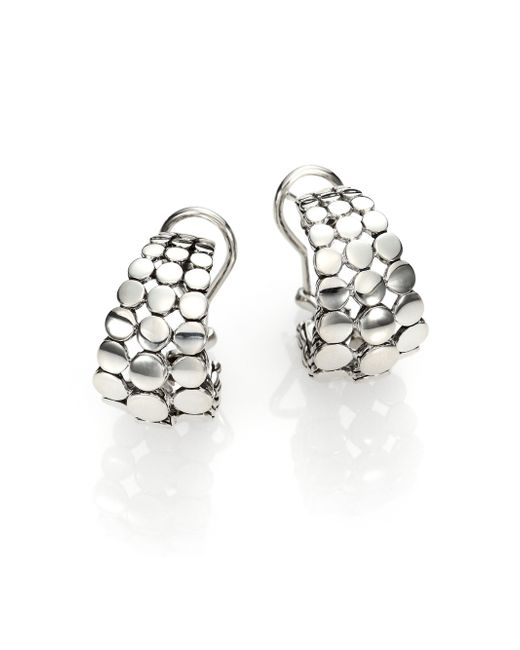 John Hardy | Metallic Dot Sterling Silver Buddha Belly Earrings | Lyst