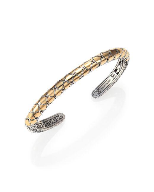 John Hardy   Metallic Naga 18k Yellow Gold & Sterling Silver Cuff Bracelet   Lyst