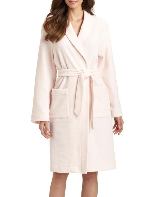 Hanro | Pink Terry Robe | Lyst