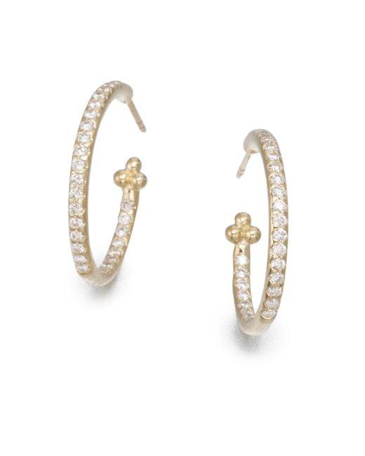 Temple St. Clair | Metallic Classic Diamond & 18k Yellow Gold Hoop Earrings/0.7 | Lyst