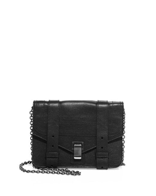Proenza Schouler | Black Ps1 Leather Chain Wallet | Lyst