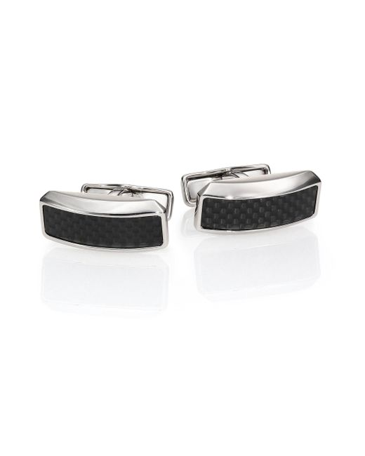 Dunhill - Black Avorities Diamond Pattern Cuff Links for Men - Lyst