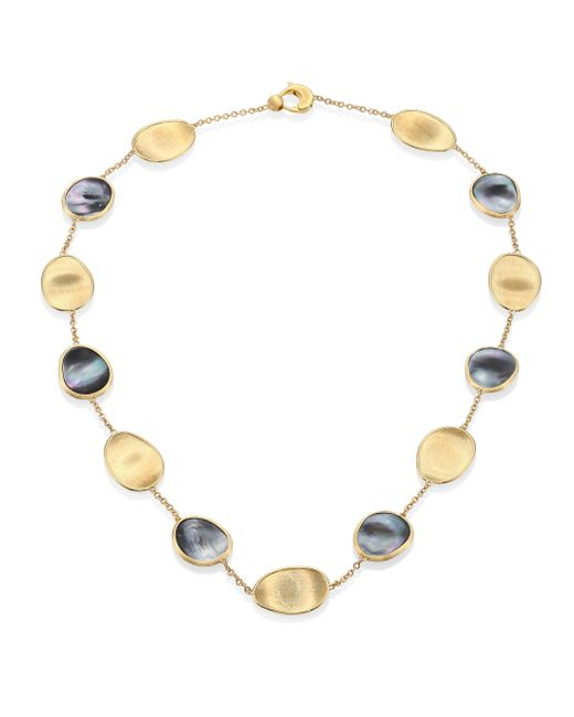 Marco Bicego - Metallic Lunaria Black Mother-of-pearl & 18k Yellow Gold Necklace - Lyst