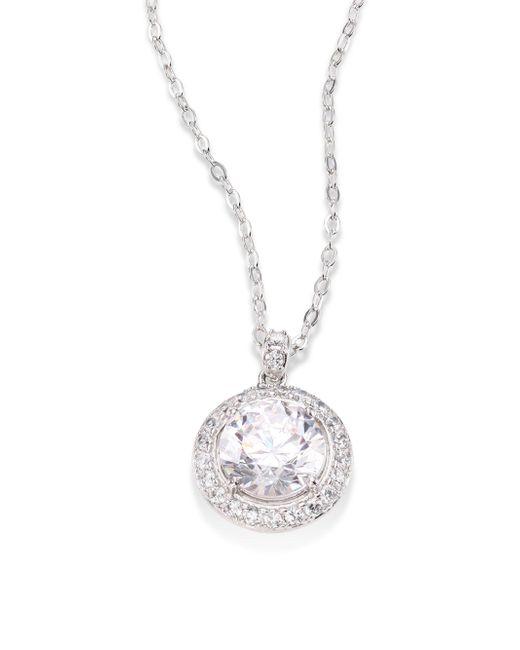 Adriana Orsini | Metallic Round Crystal Pendant Necklace | Lyst