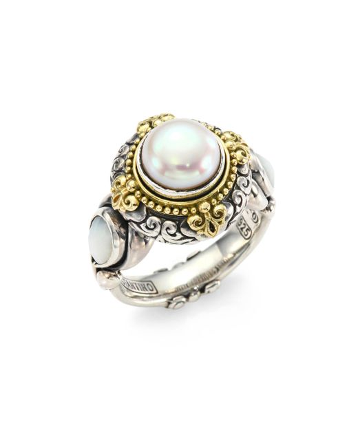 Konstantino - Metallic Mother-of-pearl Ring - Lyst