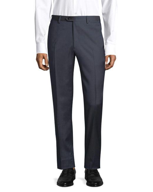 Brioni - Blue Regular-fit Classic Wool Trousers for Men - Lyst