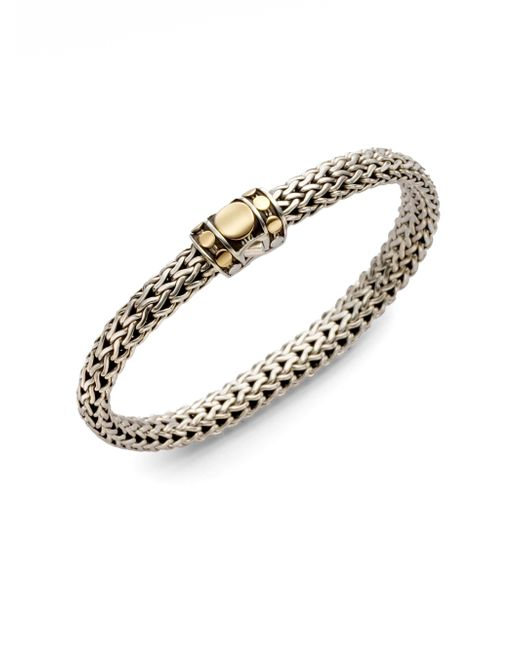 John Hardy - Metallic Dot 18k Yellow Gold & Sterling Silver Chain Bracelet - Lyst