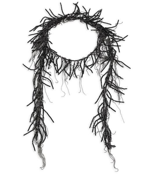 Brunello Cucinelli | Black Beaded Wrap Necklace | Lyst